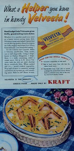 Velveeta Casserole -   from the May 1951 issue of Woman's Day magazine