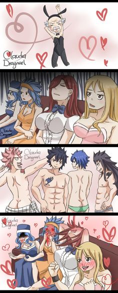 Oh natsu~ XD but grey is obviously always naked... maybe he isn't wearing anything XDDD