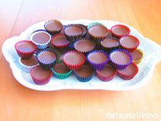 Is-sjokolade, nesten som konfekt. Muffin, Girly, Snacks, Sweets, Cookies, Baking, Breakfast, Desserts, Christmas