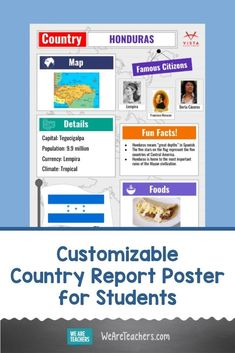 Culture projects are a staple of world language learning, but how do you do them virtually? Try this digital country report poster! #spanishteacher #languagelearning #learningathome Spanish Teacher, Teaching Spanish, Foreign Language, Spanish Language, World Language Classroom, Country Report, Google Image Search, Higher Learning, World Languages