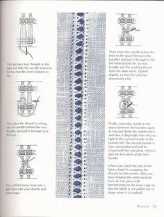 pulled thread work