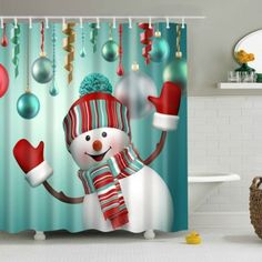 SHARE & Get it FREE | Waterproof Snowman Printed Bath Christmas Shower CurtainFor Fashion Lovers only:80,000+ Items·FREE SHIPPING Join Dresslily: Get YOUR $50 NOW!