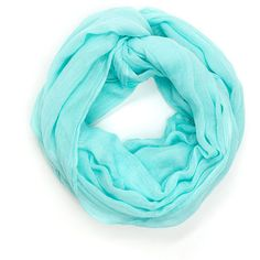 Chic 'N Classic Infinity Scarf MINT (Final Sale) (54 MXN) ❤ liked on Polyvore featuring scarves and green