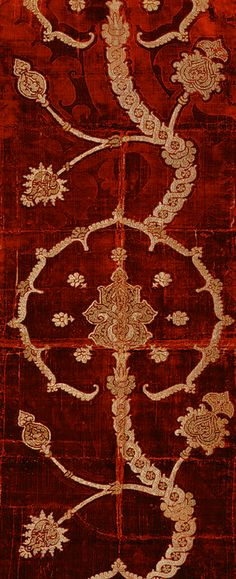 Length of brocaded velvet, 16th century Spanish or Italian Silk velvet brocaded with metal-wrapped thread ( The Metropolitan Museum of Art)