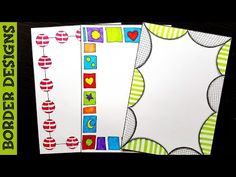 freehand Border designs on paper, border designs, project work designs, borders for projects by ----------------------------------------------------. File Decoration Ideas, Diary Decoration, Boarder Designs, Page Borders Design, Doodle Borders, Borders For Paper, Cartoon Girl Drawing, Decorate Notebook, Border Pattern