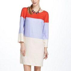 Maeve Anthropologie Color Block Brightblock Dress