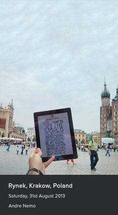 The first iPad manifesto! Krakow, Poland from Andre Nemo.