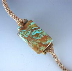 Jewelry Pendant Arizona Boulder Turquoise on Kumihimo Braided Cord. $95.00, via Etsy. #handmade