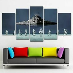 Video Game Rooms, Funko Pop, Starwars, Man Cave, Theatre, Layout, Wall Art, Decoration, Poster