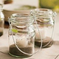 3. Vases with sand and candles