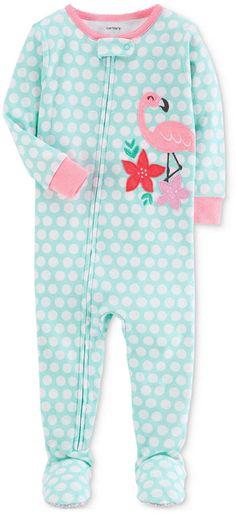 bb6bfc6fe93f Carter s 1-Pc. Flamingo Footed Cotton Pajamas