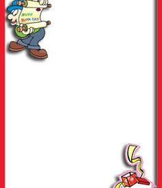 Postal para hacer con tu foto de cumpleaños, borde rojo. Anuncio de cumpleaños. www.fotoefectos.com