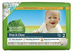 Seventh Generation Free & Clear Unbleached Diapers