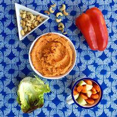 Humus de pimiento rojo y anacardos