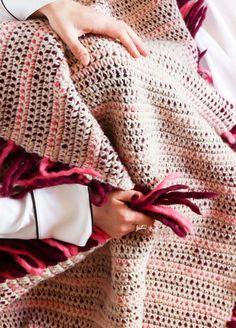 Crochet Kit Wool Decor Kukicha Blanket