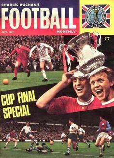 Charles Buchan's Football Monthly magazine for June 1966 featuring the FA Cup on the cover.