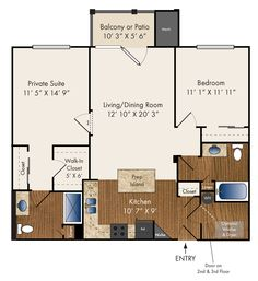 """""""Byron"""" Two Bedroom 1121 sq. ft."""