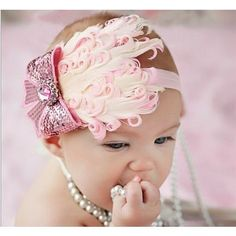 Feather Baby Headbands Various Colors