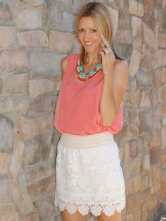 The Stylish Housewife - Lace Skirt