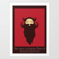Art Print featuring Found In Translation - Rire Dans sa Barbe by Anjana Iyer
