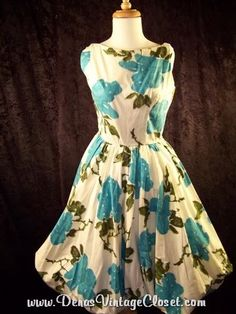 Vintage 50s Jerry Gilden Spectator Day Dress