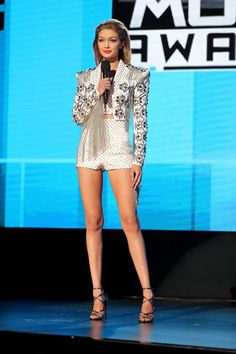 Gigi Hadid in Julien Macdonald.