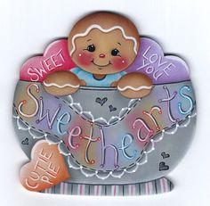 Pintura E-patrón de novios jengibre por GingerbreadCuties en Etsy