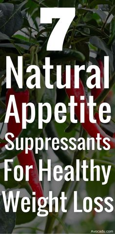 Weight loss should be a healthy process and not a starvation diet.  These 7 natural appetite suppressants consist of healthy food that will help you lose weight in a natural and healthy way. Forget the diet pills and add these to the top of your list of weightloss tips! http://avocadu.com/7-natural-appetite-suppressants-for-healthy-weight-loss/