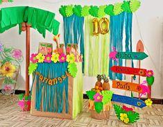 MADRE NOVATA: Ideas Para Decorar Una Fiesta Hawaiana Aloha Party, Outdoor Decor, Ideas, Home Decor, Hawaiian Luau, Different Types Of, Activities For Kids, Parties Kids, Globes