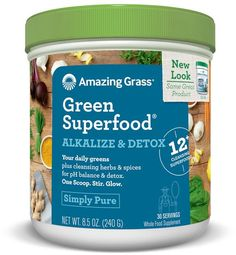SuperFood SuperGreens Alkalize & Detox - 30 Servings Amazing Grass greens are USDA organic, Non GMO, kosher, vegan and gluten free. Containing a plethora of vitamins, minerals, plant based protein and