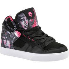 Osiris Clone Women's Black Skate ($58) ❤ liked on Polyvore featuring black