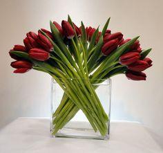 New York Florist tulip flower arrangements Tulips Flowers, Love Flowers, Fresh Flowers, Flower Vases, Beautiful Flowers, Red Tulips, Cactus Flower, Flowers Garden, Exotic Flowers