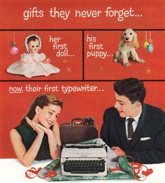 Nunca olvidarán su primera máquina de escribir!