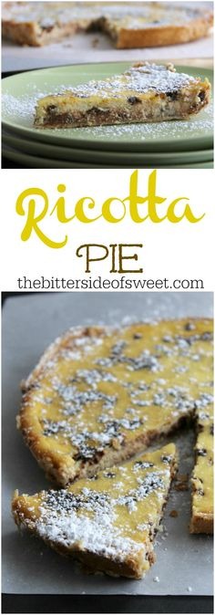 Ricotta Pie | The Bitter Side of Sweet #FWCon #makeitwithMILK