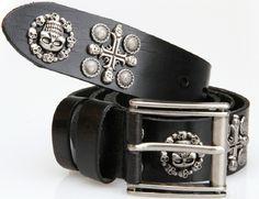 100% Genuine Leather New 2013 Vintage Punk Men's Cowhide Skull Belts Man brand Motorcycle belt  hip hop Straps Cinto 125 TBT0044