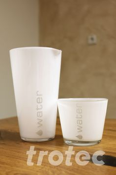 Laser engraved glass tumbler set - Free DIY instructions with recommended laser parameters for your Trotec laser. Trotec Laser, Laser Machine, Carafe, Laser Engraving, Diy Gifts, Tumbler, Tableware, Projects, Free