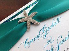 Little Mermaid Wedding Invitation Beach by MagicBeyondMidnight