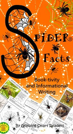 This is an interactive, hands-on fun activity in which kids make their resource for writing an informational report about spiders. Spider facts, spider photos, spider informational writing all in one! This arachnid interactive reading and writing resource doubles as an ELA and a science lesson/activity.