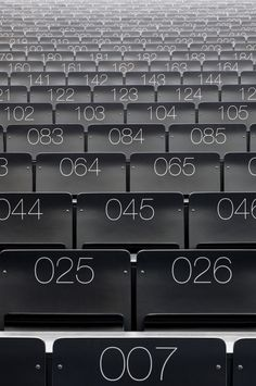 raw, OSB, theater, auditorium, seating, signage, wayfinding, numbers    Interims Audimax / Deubzer Konig & Rimmel Architekten
