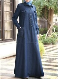 Modest Islamic Clothing on Sale Modest Islamic Clothing on Sale Modest Maxi Dress, Denim Maxi Dress, Hijab Dress, Queen Style, Denim Abaya, Muslim Dress, Islamic Fashion, Hijab Chic, Islamic Clothing