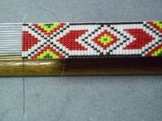 Apache Geometric Beaded Hat Band~Native American Inspired Hatband