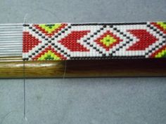 Apache Geometric Beaded Hat Band~Native American Inspired Hatband