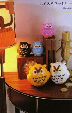 Cute owls....there is a pattern but you have to google translate it
