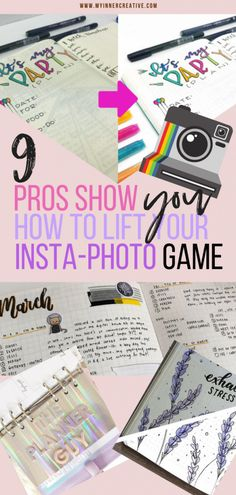 9 ways to expertly edit your bullet journal photos for Instagram from the pros! | My Inner Creative #bulletjournal #bujo #bulletjournaling #bulletjournaljunkies #bulletjournalcommunity #showmeyourplanner #bujolove #planner #plannercommunity #journal #plannerlove #planneraddict #studying #bulletjournallove #stationary #planning #planwithme #journaling #bujoinspire #plannernerd #stationery #insta #instagramphoto #photoediting #instagramers #instaphoto #instacool #instafol
