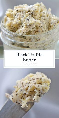 Homemade Black Truffle Butter only requires 3 ingredients! Cheaper and easier than buying it at the store and you can use it on so many different things! How To Make Truffles, No Bake Truffles, Vegan Truffles, Homemade Truffles, Cake Truffles, Coconut Truffles, Chocolate Truffles, Truffle Sauce, Truffle Fries