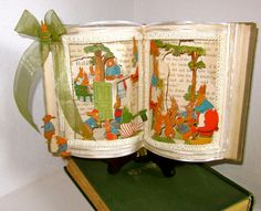 Altered book Fairy tale Peter Rabbit 1921 by Raidersofthelostart