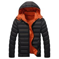 $29.89 Winter Outdoor Waterproof Thicken Warm Hooded Padded Jacket For Men - Newchic