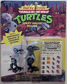 Teenage Mutant Ninja Turtles Action Figures: Mouser Ninja Turtle Toys, Ninja Turtles Action Figures, Teenage Mutant Ninja Turtles, Tmnt Characters, Weird Toys, Old School Toys, Modern Toys, Cartoon Toys, Kids Zone