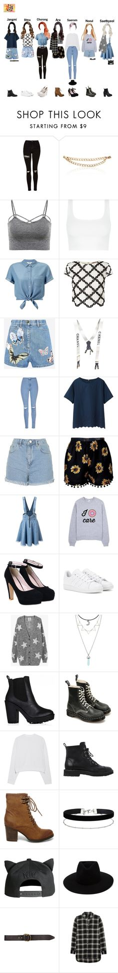 """WEEKLY IDOL - C.U.T.E's Second Appearance"" by kkum-yeoja ❤ liked on Polyvore featuring Topshop, Maison Mayle, Miss Selfridge, Lipsy, Valentino, Chanel, Glamorous, Uniqlo, adidas and Zoe Karssen"