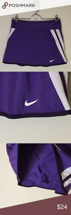 Nike Dri-Fit Purple Tennis Skirt Size M Excellent condition. 87% polyester 13% spandex, shorts underneath. Bundle discount available! Nike Skirts